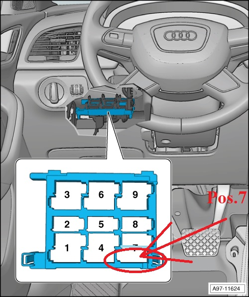 Position 7 Has Space For 2 Relays Use Any To Install This: Fuse Box Audi Q3 At Executivepassage.co